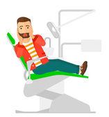 Ängstliche Patienten in zahnärztlichen Stuhl