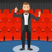 Conductor directing with baton