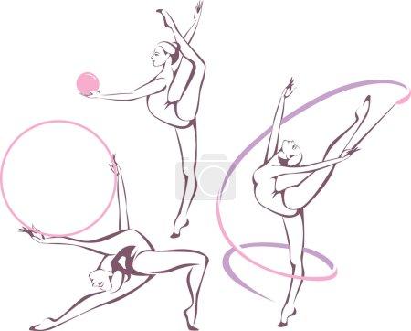 rhythmic gymnastics set
