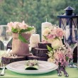 Wedding table setting in rustic style....