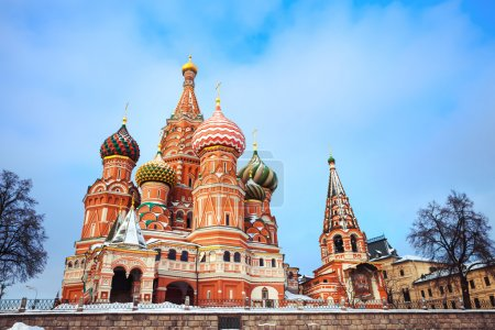 Beautiful Moscow Attraction - saint Basil's Cathedral