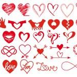 Heart, love, Valentines day, big set of vector gra...