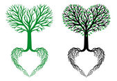 tree of life heart tree vector