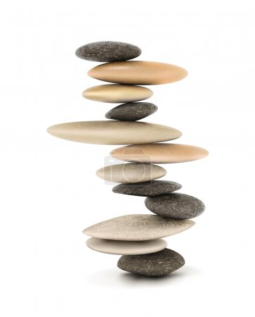 Zen Balanced stone tower