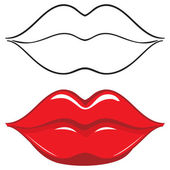 Vector illustration Sexy red female lips