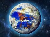Planeta v krásného prostoru
