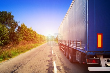 Photo for Truck on a highway - Royalty Free Image