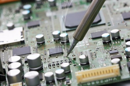 Photo for Repair of electronic devices, soldering parts - Royalty Free Image