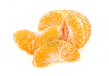 Photo pour Tangerine or Mandarin Fruit, isolated on white background - image libre de droit