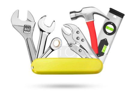 Photo for Many Tools on white background - Royalty Free Image