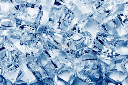 Photo for Ice cubes close-up background - Royalty Free Image