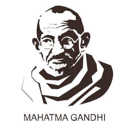 силуэт Махатма Ганди