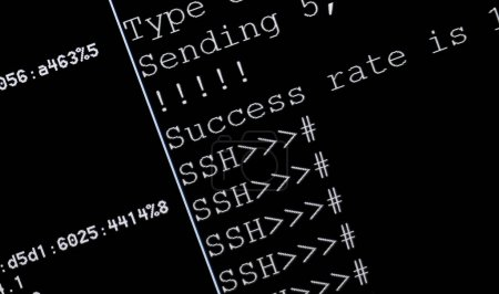 Established ssh connection - secure shell with pin...