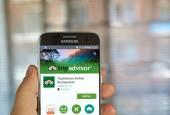 Applicazione di TripAdvisor su Samsung s7