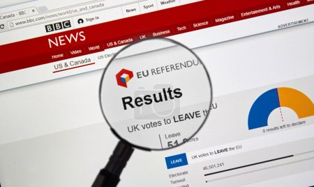 Brexit results on BBC site