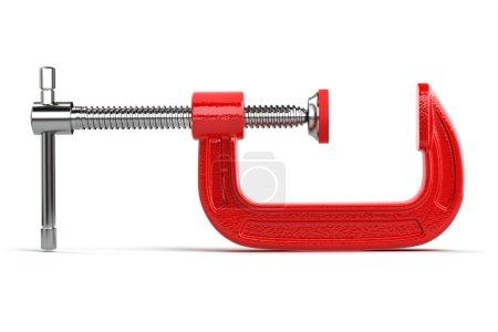 Photo pour Outil de compression de serrage isolé sur blanc. 3d - image libre de droit