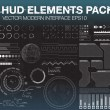 Set of web elements in HUD style. Infographic elem...
