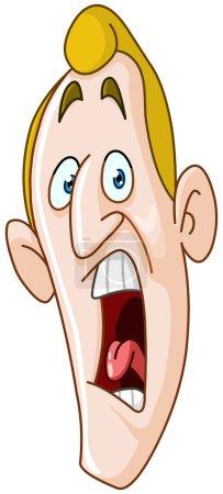 Illustration for Panic or yelling man - Royalty Free Image