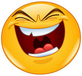 Emoticon with evil laugh