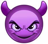 Smiling face with horns Purple devil emoticon