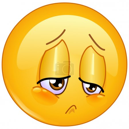 Illustration for Sorrow and sad emoticon - Royalty Free Image