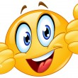 Emoticon showing thumbs up...