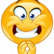 Emoticon with a pleasing expression...
