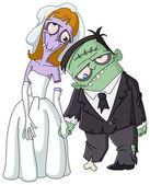 Vector zombie wedding