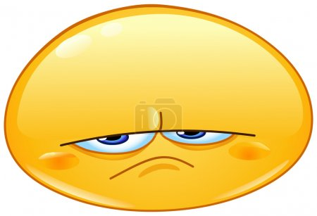 Illustration for Upset emoticon - Royalty Free Image