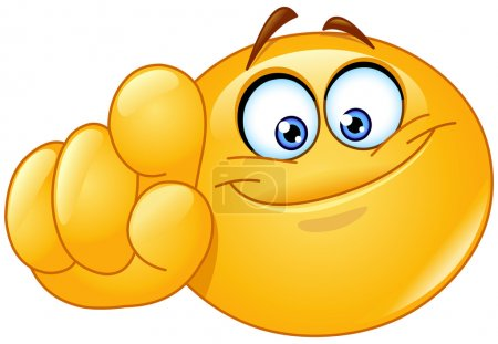 Illustration for Emoticon pointing at you - Royalty Free Image