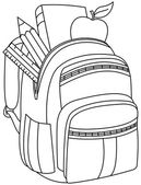 Outlined school backpack