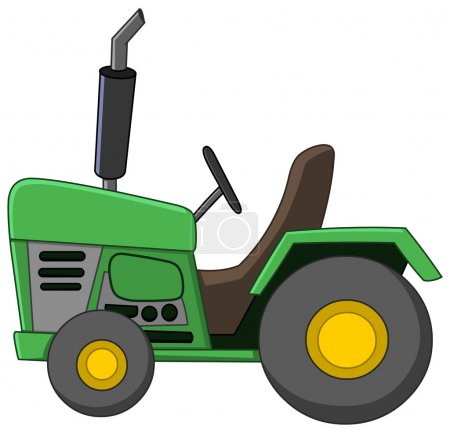 Green Tractor cartoon