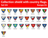 Collection shield with country flags Part 3 of 6