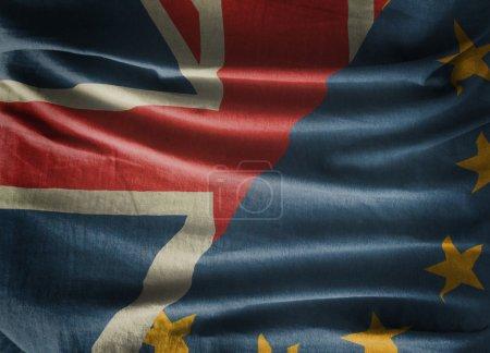 Photo pour Union européenne et Royaume-Uni - image libre de droit
