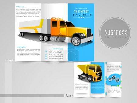 Foto de Folleto, catálogo y folleto profesional para fines comerciales de transporte. - Imagen libre de derechos
