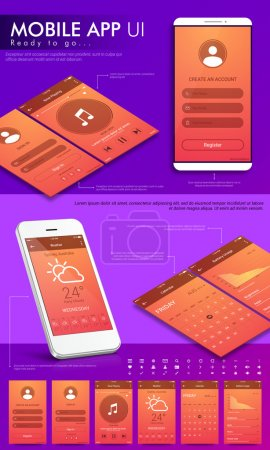 UI, UX and GUI template for Mobile App.