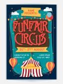 Funfair Circus Template Banner or Flyer design