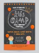 Kids Camp Template Banner or Flyer design