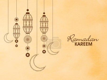 Floral lanterns for Ramadan Kareem.