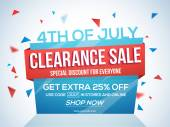 Sale Template Banner or Flyer for 4th of July