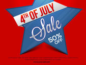 Sale Poster or Banner for 4th of July
