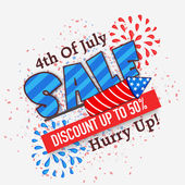 Sale Poster or Banner for American Independence Day