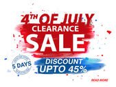 4th of July Clearance Sale Poster Banner or Flyer