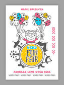 Kids Fun Fair Template Banner or Flyer design