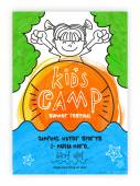 Summer Kids Camp Template Banner or Invitation