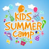 Kids Summer Camp Poster Banner or Flyer design