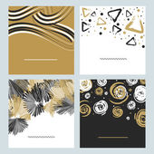 Set of hand drawn abstract texture and background