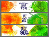 Sale web header or banner for Indian Independence Day