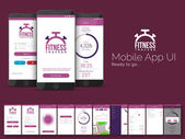 Fitness Tracker Mobile App UI, UX and GUI template.