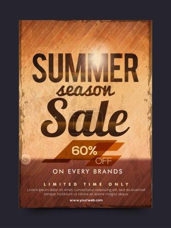 Summer Season Sale Poster, Banner or Flyer.